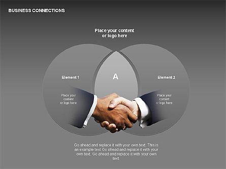 Business Connections Diagrams, Slide 16, 00339, Shapes — PoweredTemplate.com