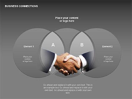 Business Connections Diagrams, Slide 17, 00339, Shapes — PoweredTemplate.com