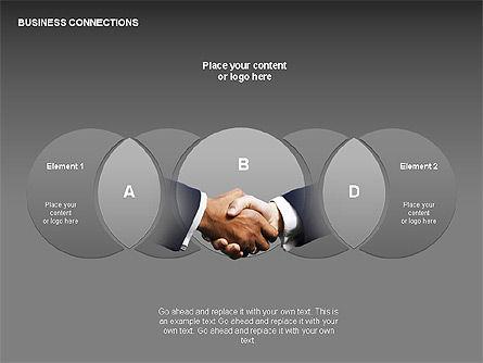 Business Connections Diagrams, Slide 18, 00339, Shapes — PoweredTemplate.com