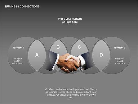 Business Connections Diagrams, Slide 19, 00339, Shapes — PoweredTemplate.com