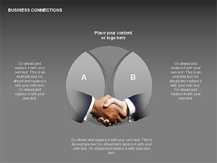 Business Connections Diagrams, Slide 20, 00339, Shapes — PoweredTemplate.com