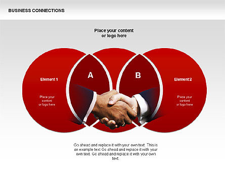 Business Connections Diagrams, Slide 3, 00339, Shapes — PoweredTemplate.com