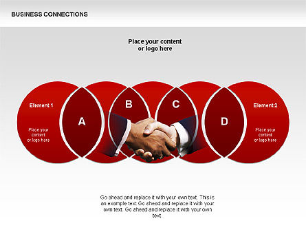 Business Connections Diagrams, Slide 5, 00339, Shapes — PoweredTemplate.com