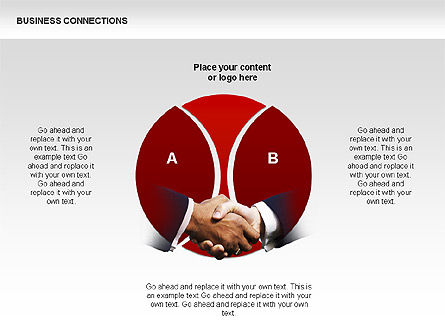Business Connections Diagrams, Slide 6, 00339, Shapes — PoweredTemplate.com