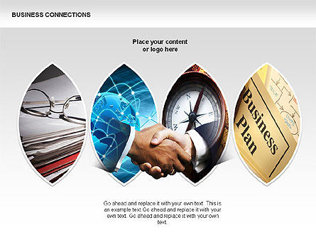 Business Connections Diagrams, Slide 8, 00339, Shapes — PoweredTemplate.com