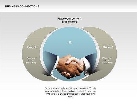 Business Connections Diagrams, Slide 9, 00339, Shapes — PoweredTemplate.com