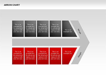 Arrows Chevron Charts, Slide 3, 00341, Process Diagrams — PoweredTemplate.com