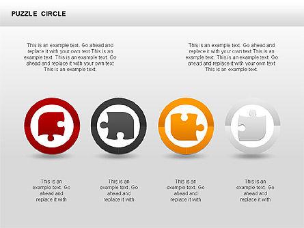 Puzzle Circle Shapes, Slide 2, 00342, Puzzle Diagrams — PoweredTemplate.com