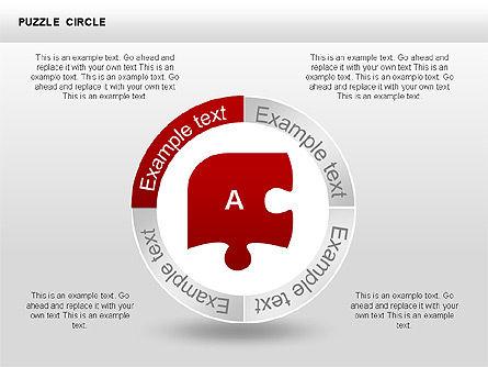Puzzle Circle Shapes, Slide 3, 00342, Puzzle Diagrams — PoweredTemplate.com