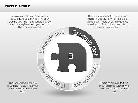 Puzzle Circle Shapes, Slide 4, 00342, Puzzle Diagrams — PoweredTemplate.com