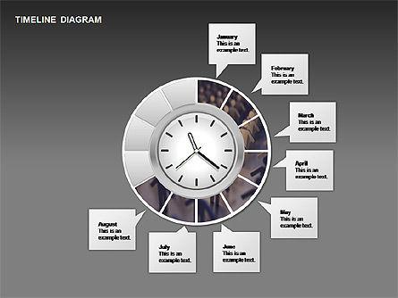 Round Timeline Photos Diagram, Slide 11, 00343, Timelines & Calendars — PoweredTemplate.com