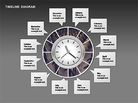 Round Timeline Photos Diagram, Slide 12, 00343, Timelines & Calendars — PoweredTemplate.com