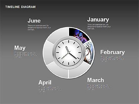 Round Timeline Photos Diagram, Slide 13, 00343, Timelines & Calendars — PoweredTemplate.com