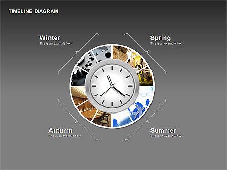 Round Timeline Photos Diagram, Slide 14, 00343, Timelines & Calendars — PoweredTemplate.com