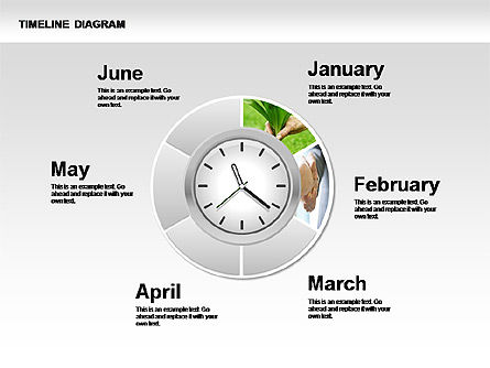Round Timeline Photos Diagram, Slide 4, 00343, Timelines & Calendars — PoweredTemplate.com