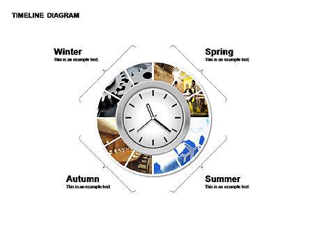 Round Timeline Photos Diagram, Slide 5, 00343, Timelines & Calendars — PoweredTemplate.com