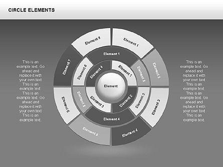 Circle Charts, Slide 10, 00345, Pie Charts — PoweredTemplate.com