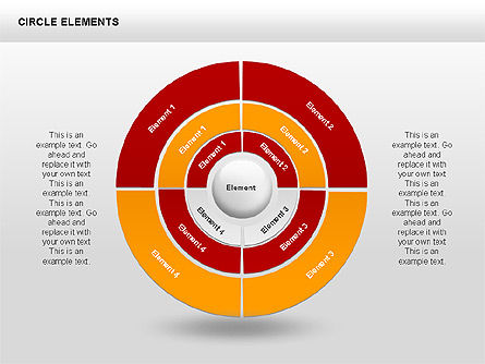 Circle Charts, Slide 3, 00345, Pie Charts — PoweredTemplate.com