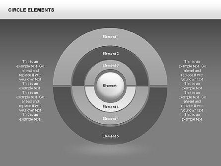 Circle Charts, Slide 7, 00345, Pie Charts — PoweredTemplate.com