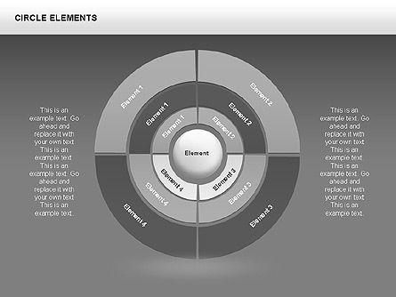 Circle Charts, Slide 8, 00345, Pie Charts — PoweredTemplate.com