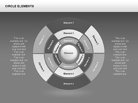 Circle Charts, Slide 9, 00345, Pie Charts — PoweredTemplate.com