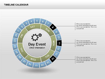 Timeline Calendar, 00346, Timelines & Calendars — PoweredTemplate.com