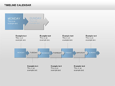 Timeline Calendar, Slide 2, 00346, Timelines & Calendars — PoweredTemplate.com