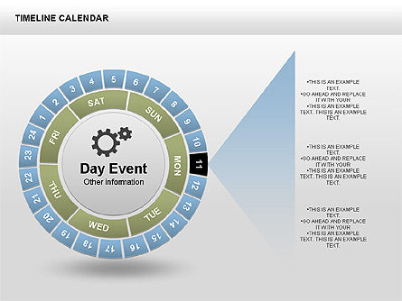 Timeline Calendar, Slide 3, 00346, Timelines & Calendars — PoweredTemplate.com