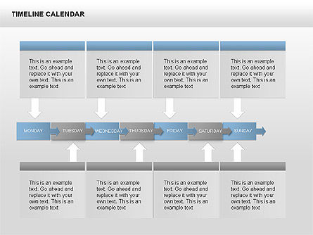 Timeline Calendar, Slide 4, 00346, Timelines & Calendars — PoweredTemplate.com