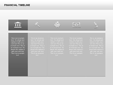 Monochrome Financial Timeline, 00348, Timelines & Calendars — PoweredTemplate.com