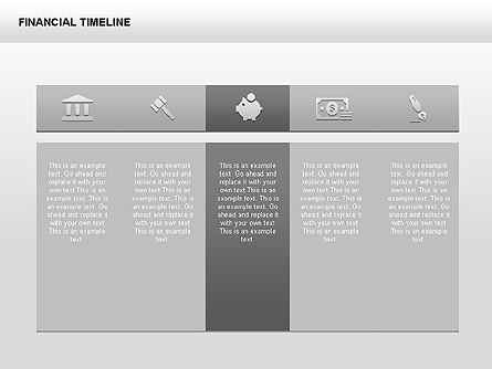 Monochrome Financial Timeline, Slide 3, 00348, Timelines & Calendars — PoweredTemplate.com
