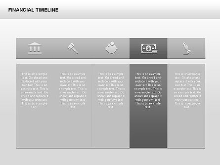 Monochrome Financial Timeline, Slide 4, 00348, Timelines & Calendars — PoweredTemplate.com