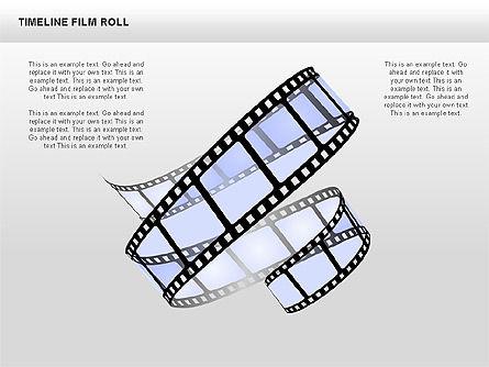Timeline Film Roll, Slide 10, 00349, Timelines & Calendars — PoweredTemplate.com