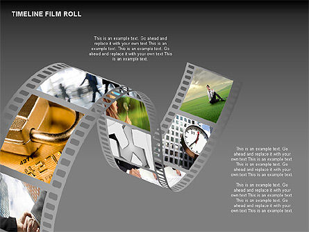 Timeline Film Roll, Slide 11, 00349, Timelines & Calendars — PoweredTemplate.com