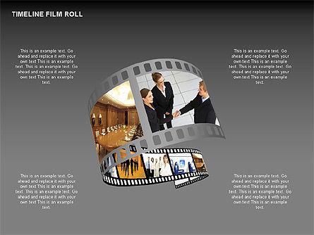 Timeline Film Roll, Slide 12, 00349, Timelines & Calendars — PoweredTemplate.com