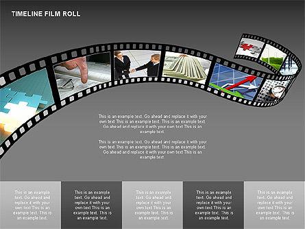 Timeline Film Roll, Slide 13, 00349, Timelines & Calendars — PoweredTemplate.com