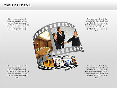 Timeline Film Roll, Slide 4, 00349, Timelines & Calendars — PoweredTemplate.com
