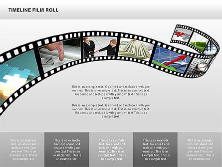 Timeline Film Roll, Slide 6, 00349, Timelines & Calendars — PoweredTemplate.com