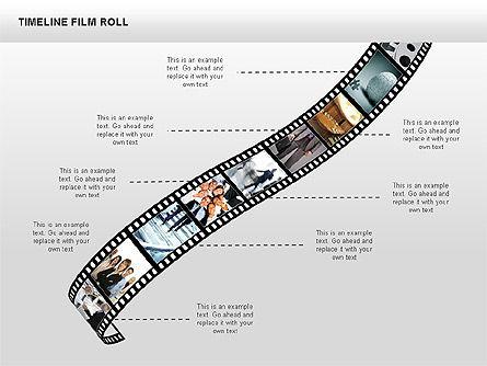 Timeline Film Roll, Slide 7, 00349, Timelines & Calendars — PoweredTemplate.com