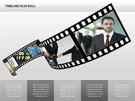 Timeline Film Roll, Slide 9, 00349, Timelines & Calendars — PoweredTemplate.com
