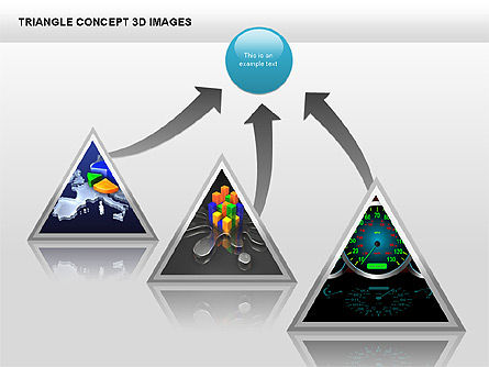 Triangle Concept 3D with Images, Slide 11, 00350, Shapes — PoweredTemplate.com