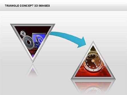 Triangle Concept 3D with Images, Slide 13, 00350, Shapes — PoweredTemplate.com