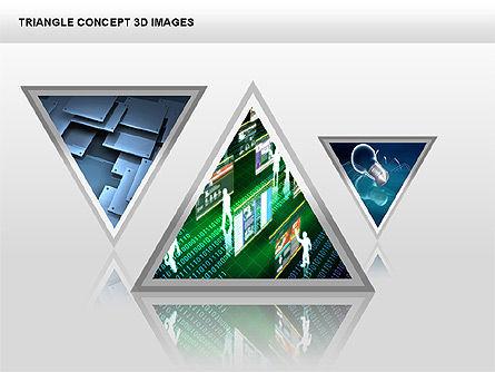 Triangle Concept 3D with Images, Slide 14, 00350, Shapes — PoweredTemplate.com
