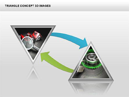 Triangle Concept 3D with Images, Slide 15, 00350, Shapes — PoweredTemplate.com