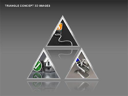 Triangle Concept 3D with Images, Slide 16, 00350, Shapes — PoweredTemplate.com