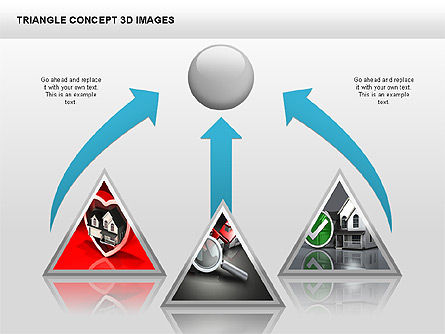 Triangle Concept 3D with Images, Slide 3, 00350, Shapes — PoweredTemplate.com
