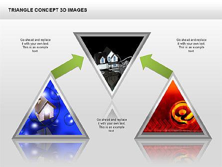 Triangle Concept 3D with Images, Slide 5, 00350, Shapes — PoweredTemplate.com
