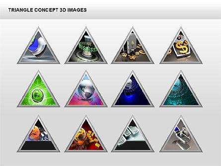 Triangle Concept 3D with Images, Slide 6, 00350, Shapes — PoweredTemplate.com