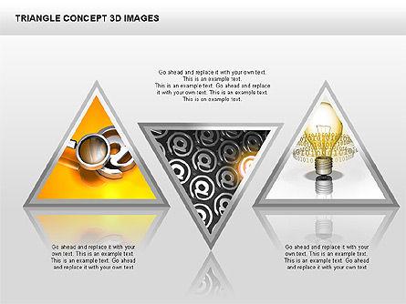 Triangle Concept 3D with Images, Slide 8, 00350, Shapes — PoweredTemplate.com