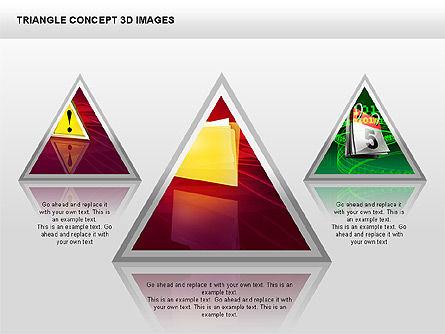 Triangle Concept 3D with Images, Slide 9, 00350, Shapes — PoweredTemplate.com